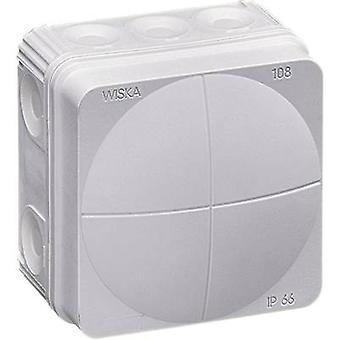Junction box (L x W x H) 76 x 76 x 51 mm Wiska 10060522 Grey (RA