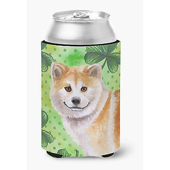 Carolines Treasures  BB9852CC Shiba Inu St Patrick's Can or Bottle Hugger