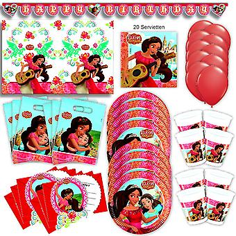 Elena Avalor party set XL 66-teilig for 6 guests Elena party birthday decoration party package