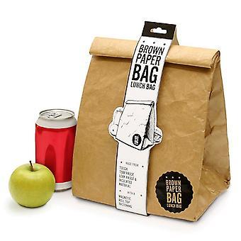 Коричневый бумажный мешок изолированные Lunchbox