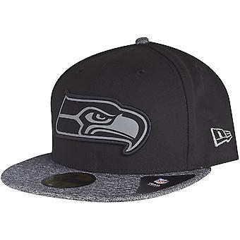 New era 59Fifty Cap - GREY Seattle Seahawks black