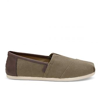 Toms Classic Washed Canvas Trim Slip On Shoes