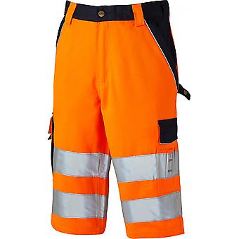 Dickies Mens Industry Polycotton Two Tone Hi Vis Reflective Shorts