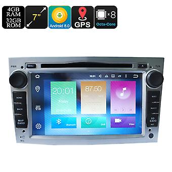 Universal 7 Inch Car Media Player For Opel - Android 8.0, Octa Core, 4+32GB, Can Bus, GPS, 3G and 4G Support, Wifi, Bluetooth