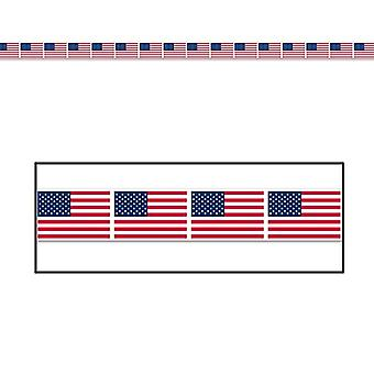 "American Flag Party Tape 3"" x 20'"