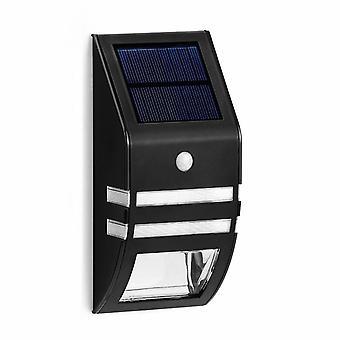 Solalite LED svart Solar PIR veggen lys Garden Overwintering belysning