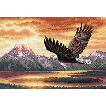 Gold Collection Silent Flight Counted Cross Stitch Kit-16