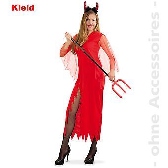 Traje de señora de Satanás Satanás de Halloween diablo Belcebú las señoras vestido de traje