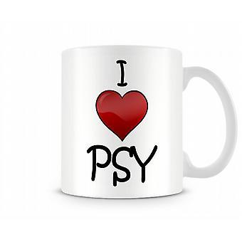 Me encanta la taza impresa PSY