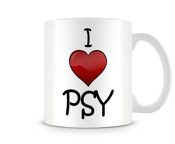 Ich liebe PSY bedruckte Becher