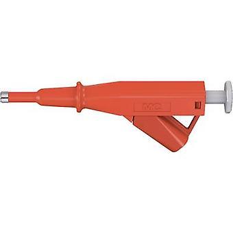 Safety adapter 4 mm jack connector CAT IV Red Stäubli VARIOGRIP-5