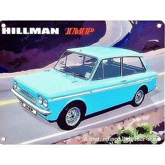 Hillman Imp lille stål underskrive 200 Mm X 150 Mm