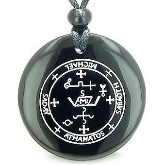 Siegel des Erzengel Michael magische Amulett schwarzer Onyx magischen Geisteskräfte Anhänger Halskette