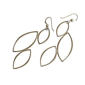 Gemshine - damer - örhängen - 925 Silver - Lotus Blossom blad - blad - 5,5 cm