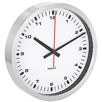Modern wall clock by Blomus stainless steel matte white dial quietly without ticking ø 40 cm