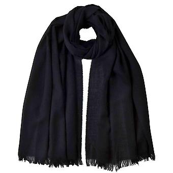 Johnstons of Elgin Extra Fine Wide Scarf - Black