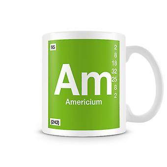 Wetenschappelijke afgedrukt Mok met Element symbool 095 ben - Americium