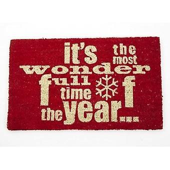 Heaven Sends Wonderful Time of The Year  Christmas Doormat
