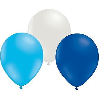 Ballons mélangent 24-pack-bleu/blanc/bleu