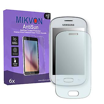 Samsung S6790N Galaxy Fame Lite Screen Protector - Mikvon AntiSun (Retail Package with accessories)