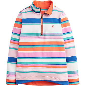 Joules Girls Fairdale Quarter Zip Soft Jersey Fleece Jacket