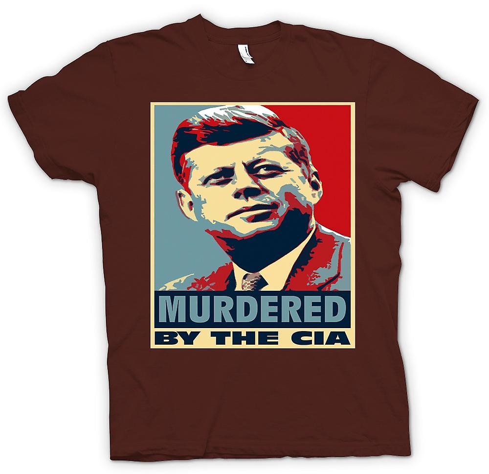 Mens T-shirt-JFK ermordet durch CIA