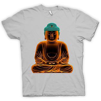 メンズ t シャツ - 穏やかな黄金の仏像 - 精神的な