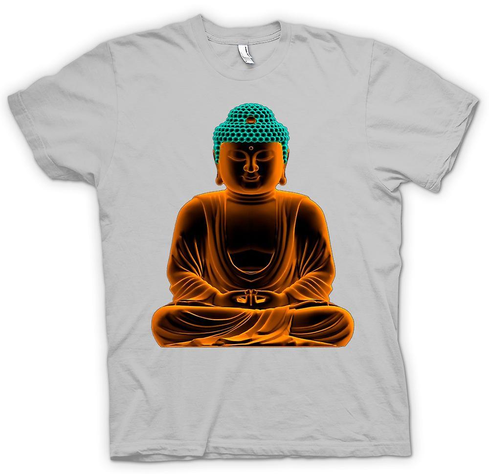 Camiseta para hombre - Buda de oro sereno - espiritual