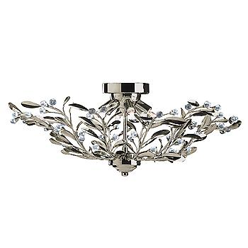 Searchlight 5256-6AB Lima Antique Brass Semi Flush Fitting