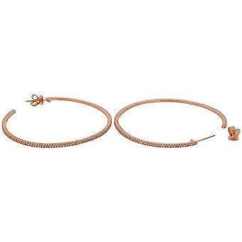TOC Rose-Goldtone Sterling Silver CZ Set Creole Hoop Earrings 52mm