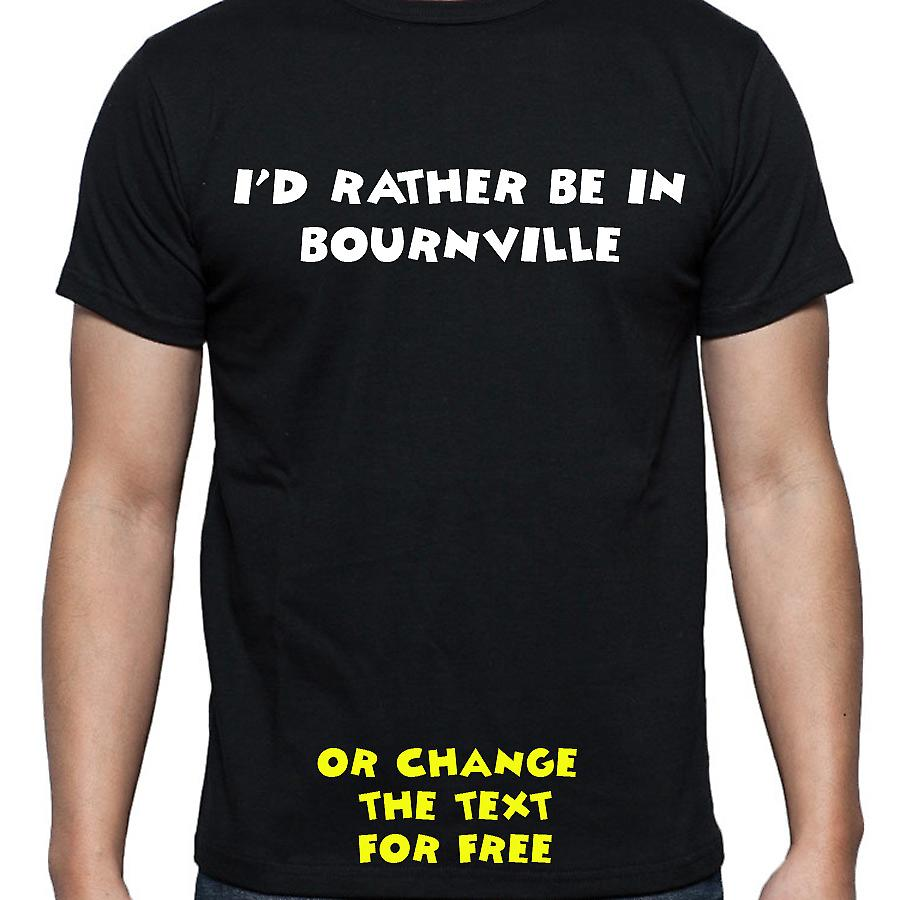 I'd Rather Be In Bournville Black Hand Printed T shirt