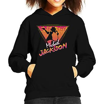 Michael Jackson Retro 80s silhouet Kid's Hooded Sweatshirt