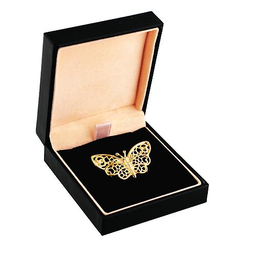 9ct Gold 18x36mm Butterfly brooch