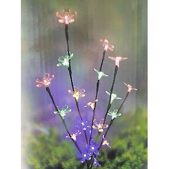 20 levou flor solar String multi cor luz decoração do jardim