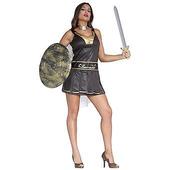 Womens Romeinse Gladiator Fancy Dress kostuum