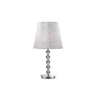 Ideal Lux - Le Roy Chrome stor bordslampa med Crystal dekoration IDL073408