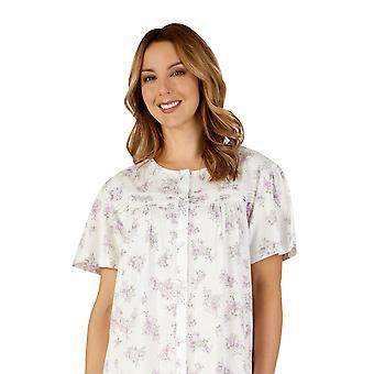 Slenderella ND3108 Women's Cotton Jersey Lilac Purple Night Gown Loungewear Nightdress