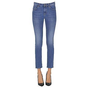 Pinko blå bomuld Jeans