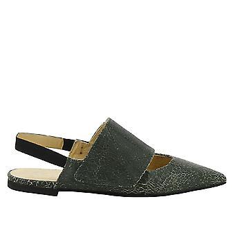 Erika Cavallini Green Leather Slippers