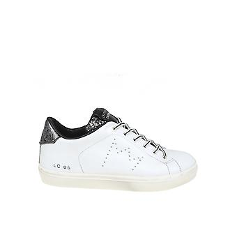 Leather Crown White/black Leather Sneakers