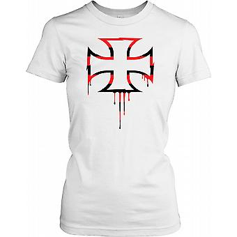 Biker - German Iron Cross Ladies T Shirt