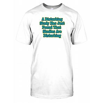 Eine beunruhigende Studie hat gefunden, dass Studien störend wirken Kinder T Shirt