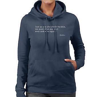 Mindfulness Buddha siste Quote kvinner er hette Sweatshirt