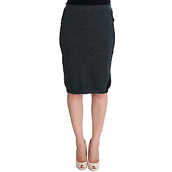 Mila SchãN Mila Schã£ÂN Green Wool Blend Pencil Skirt -- SIG3779077