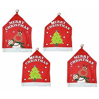 Felt Fun Christmas Design Chair Back Cover Set Of 8 Christmas Tree (XA5438)
