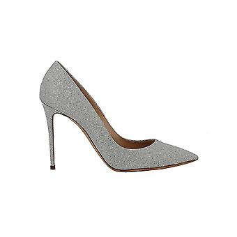 Casadei Silver Leather Pumps
