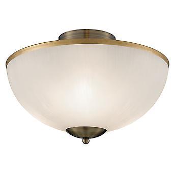 Latón y vidrio blanco Flush Fitting - reflector 6580AB