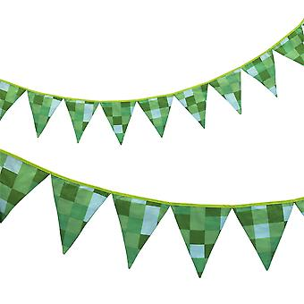 Ready Steady Bed® Children's Pixels Green Design Polycotton Bunting
