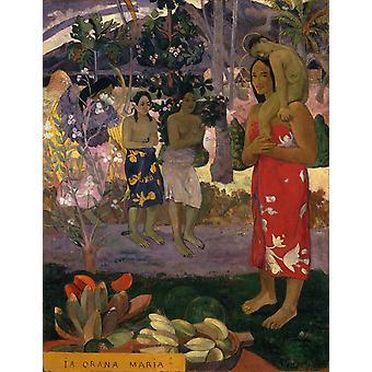 The Orana Maria,Paul Gauguin,50x40cm