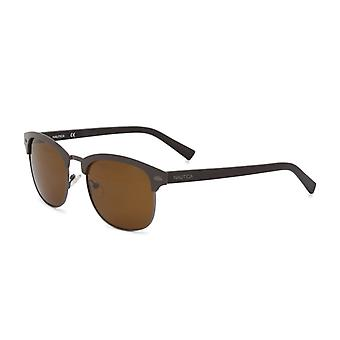 Nautica Men Brown óculos de sol--3282909808